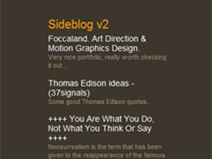 The sideblog at Abduzeedo.