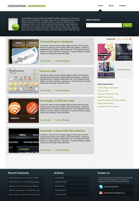 26 complete wordpress blog design tutorials pro blog design for Wordpress design