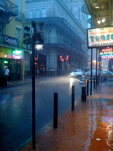 A Rainy Day on Bourbon Street, And All That Malarkey (Flickr)