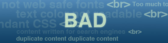 image from 30 Bad Practices of Web Designers