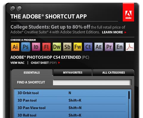 AdobeShortcut