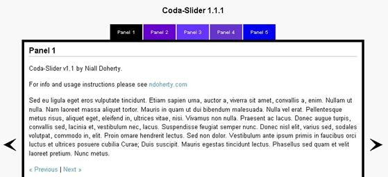 Coda slider | drupal. Org.