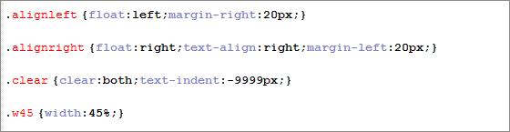 Generic CSS Styles