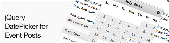 jQuery Events DatePicker in WordPress
