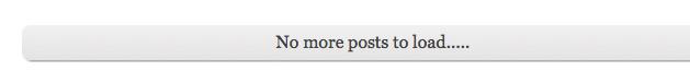 No More Posts