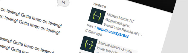 Tweets in WordPress with Backups